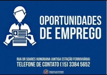 CATE informa sobre oportunidades de emprego em Cerquilho