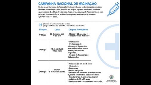 Prefeitura inicia Campanha de Vacinação