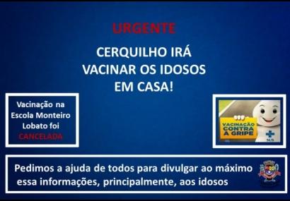 Vacinação contra a Gripe em Cerquilho será domiciliar