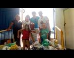 FUSSTAT recebe alimentos arrecadados em jogo beneficente