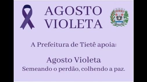 Prefeitura adere mais uma vez a Campanha Agosto Violeta
